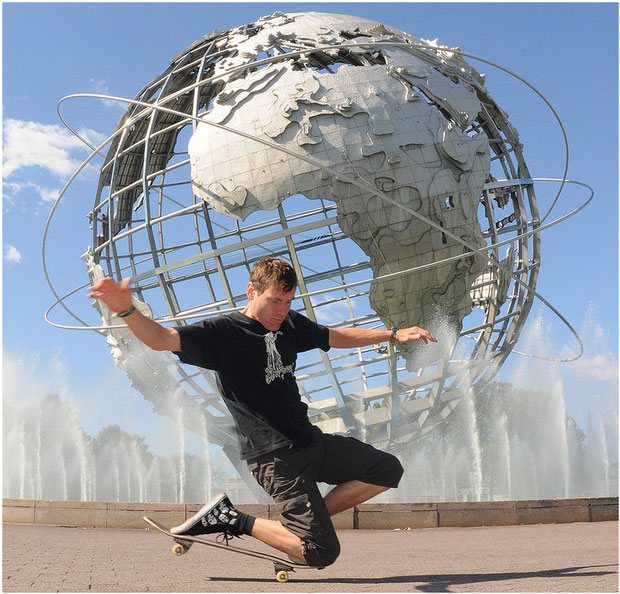 Guenter Mokulys im Flushing Meadows Park/New York