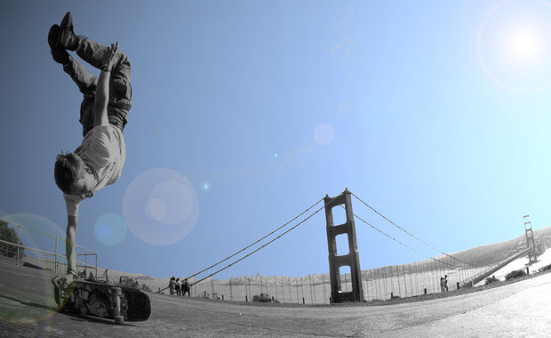 San Francisco, Guenter Mokulys. Skateboardbusiness
