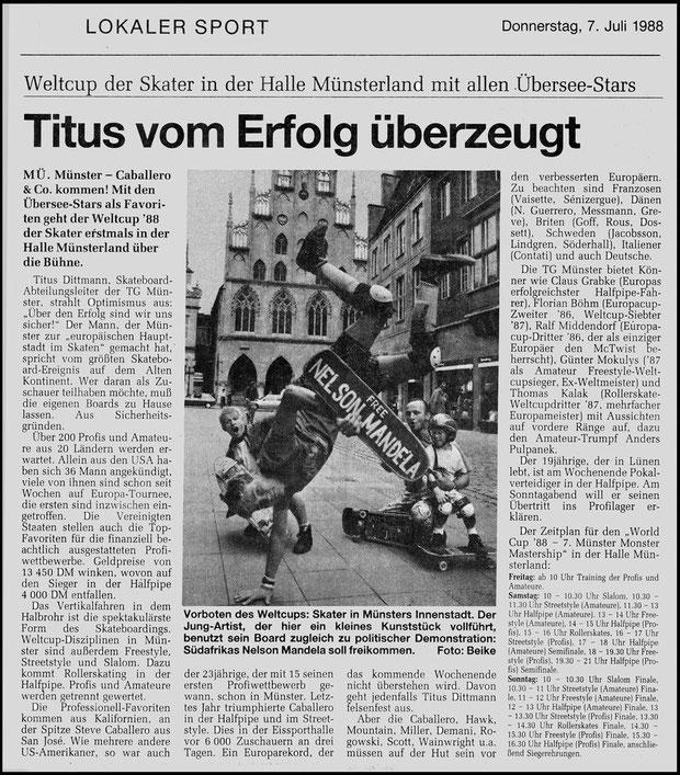 Münster Zeitung 1988
