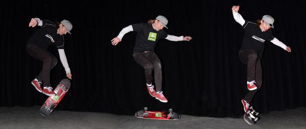 Fingerflip, 360°-Kickflip, Railflip, von Lillis.