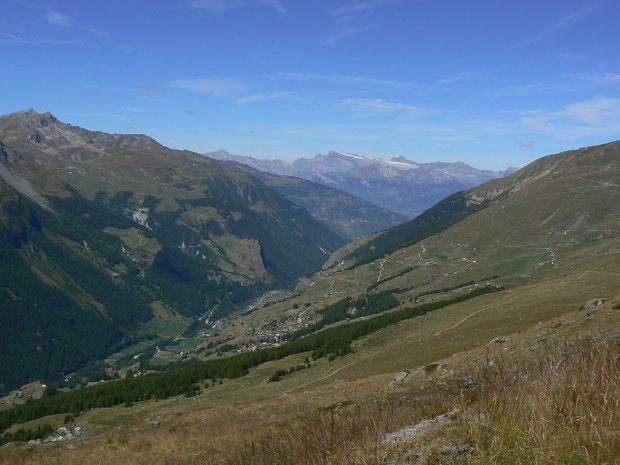 Val d'Hérens von Le Tsaté aus gesehen
