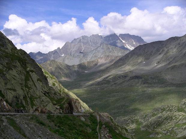 Die Gegend des Grand Saint Bernard-Passes
