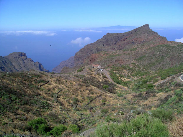 Blick auf Guerges-Steig beim Barranco Seco