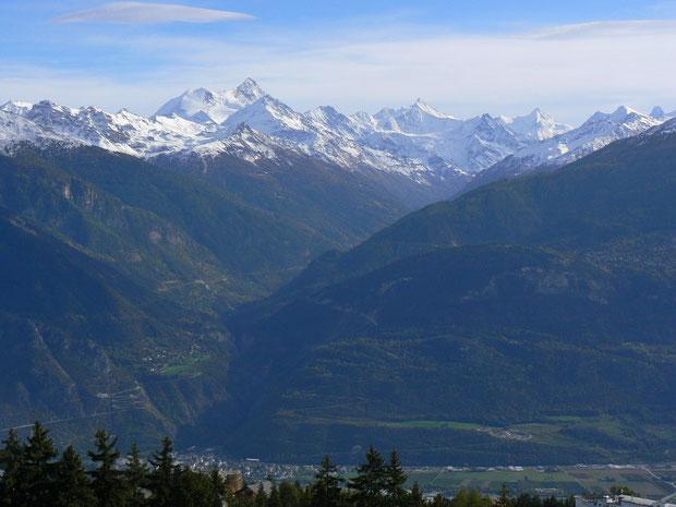 Val d'Anniviers (von Montana aus gesehen)