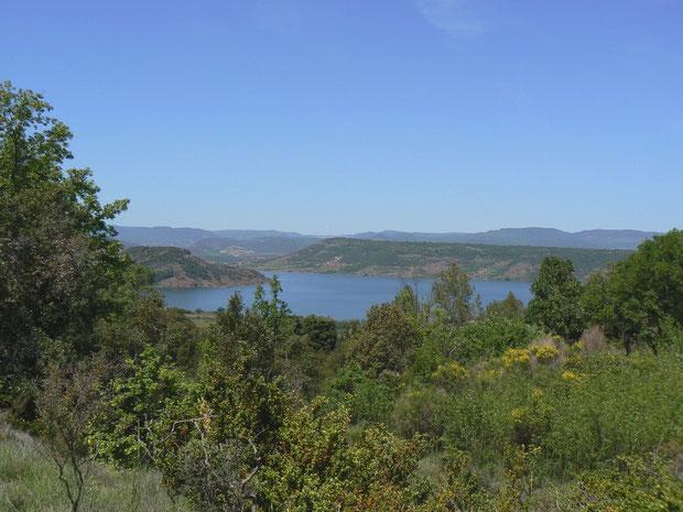 Côte de Liausson mit dem Lac du Salagou