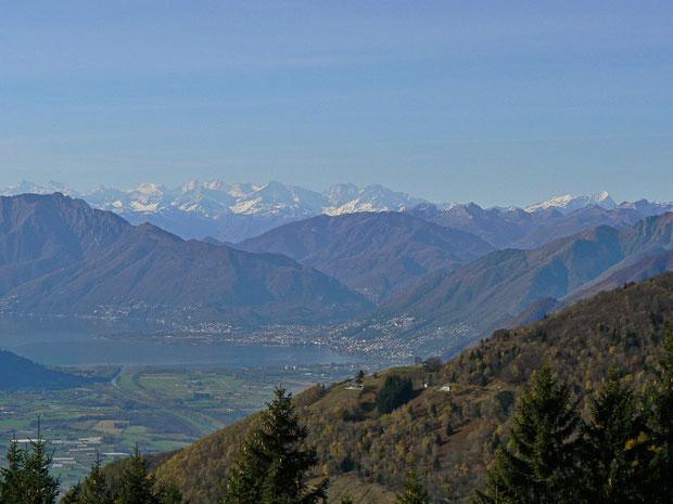 Aussicht vom Valle Morobbia (Alpe  Croveggia)