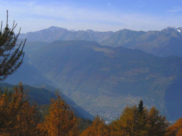 Mont de l'Arpille (im Talgrund Martigny, oben Ravoire)