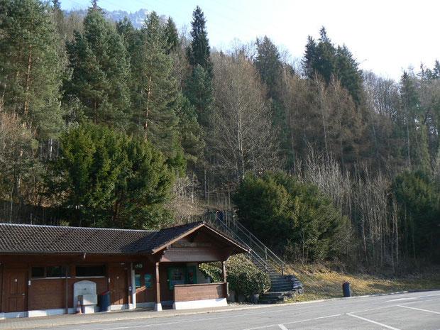 Brienzersee, Iseltwald, Autoparkplatz, 560 m
