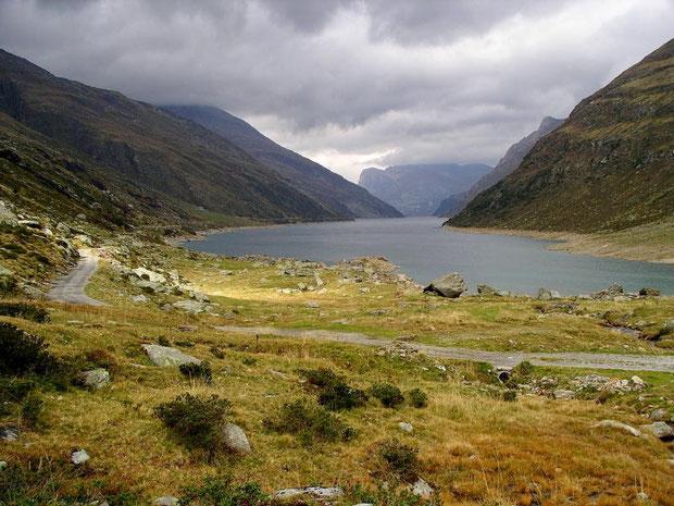 Stausee im Valle di Lei