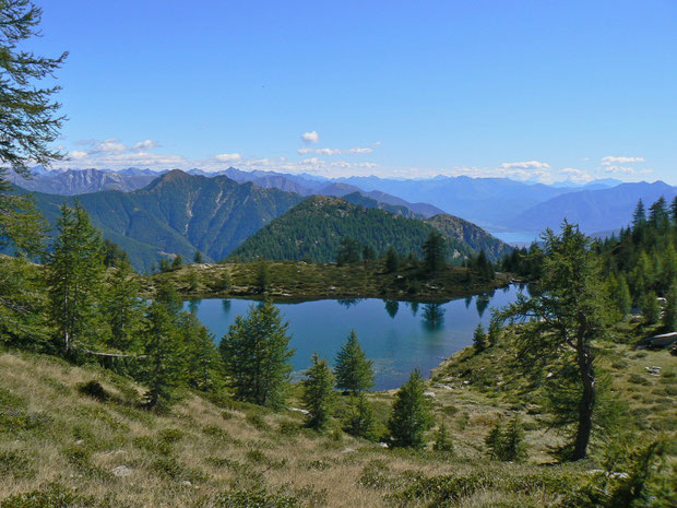 Lago dei Salei mit Aussicht nach Italien