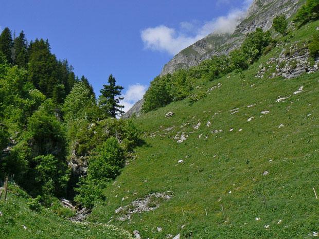 Aufstieg ins Vallée des Morteys