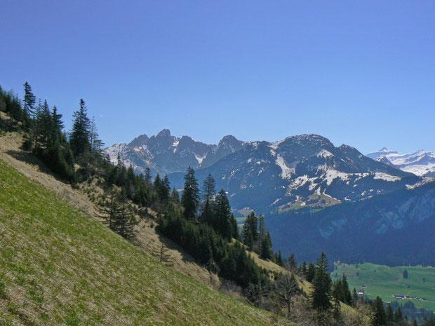 Blick ins Tal und auf die gegenüberliegende Seite