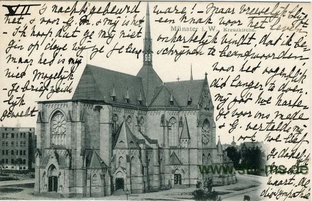 Die Kreuzkirche noch ohne Turm