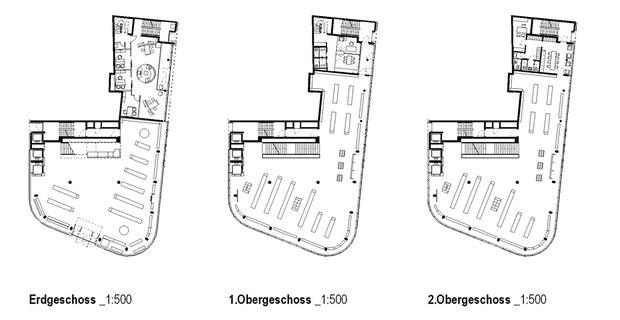 deichmann flagshipstore essen drahtler architekten dortmund planungsgrupe planung visualisierung architektur grundrisse erdgeschoss obergeschoss 2. obergeschoss