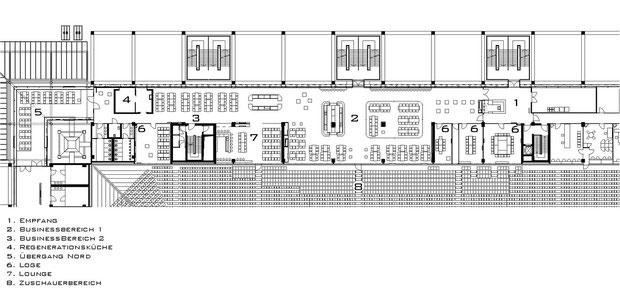rhein energie stadion köln visualisierung 3dpixel company büroräume VIP lounge drahtler architekten planungsgruppe dortmund grundriss