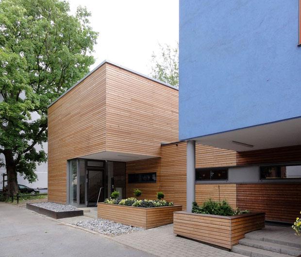 kindergarten der jüdischen kultusgemeinde dortmund drahtler architekten planungsgruppe holzfassade projektplanung architektur