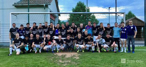 Das Siegerteam unsere JSG Schröck/ Cappel nach dem Abpfiff