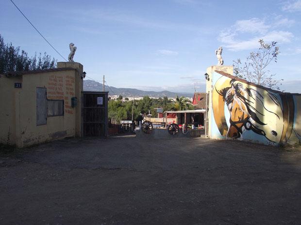 Acceso Centro Hipico Los Hermanos