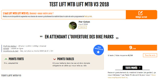 test magazine 26in lift-mtb kit V3 2018