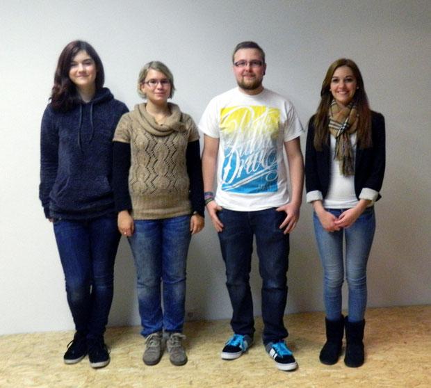 von links: Maren Rosenberger, Ines Schmieder, Daniel Birk, Maike Bücker