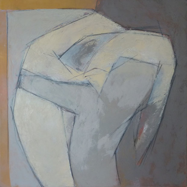 Sakountala 1 / Huile sur toile 80 x 80