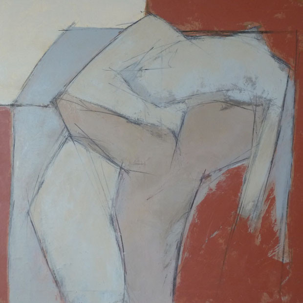 Sakountala 2 / Huile sur toile 80 x 80