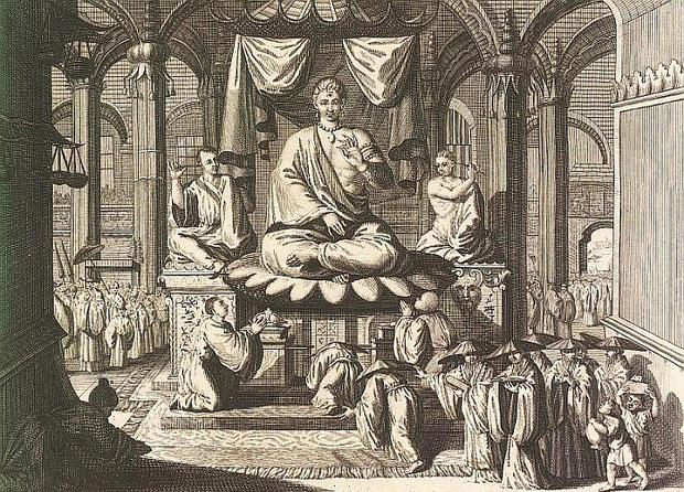 Xe-quia. 2. Cérémonies et coutumes religieuses de tous les peuples du monde. — Les peuples idolâtres  : la Chine. Bernard Picart (1673-1733),gravures, Jean-Frédéric Bernard (1683-1744), texte. Bernard, Amsterdam, 1728, vol. IV, IIe pp. 189-276 .