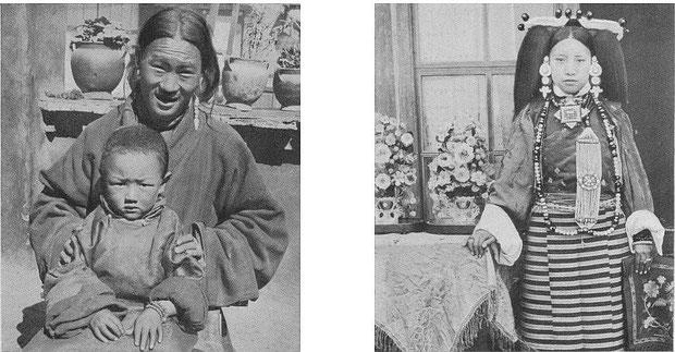 Tibétaines. F. Grenard : Haute Asie. [Mongolie, Turkestan chinois, Tibet]. Deuxième partie du tome VIII de la Géographie Universelle. A. Colin, Paris, 1929.