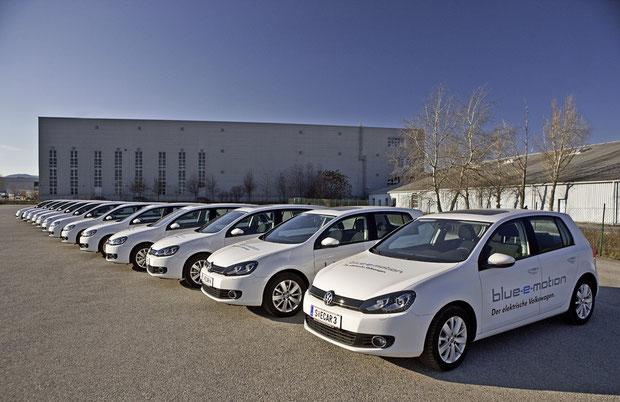 Elektro-Golf von VW der Golf Blue-e-motion