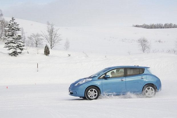 Das Elektroauto im Schnee und bei Frost