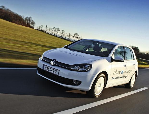 Elektro-Golf von VW , der Golf Blue-e-motion