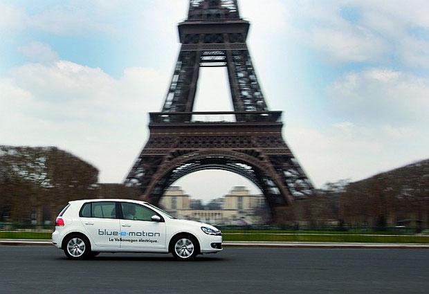 Der Elektro-Golf von Volkswagen, Flottentest in Frankreich