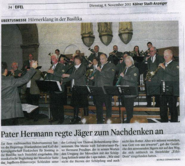 Kölner Stadtanzeiger v. 08.11.2011