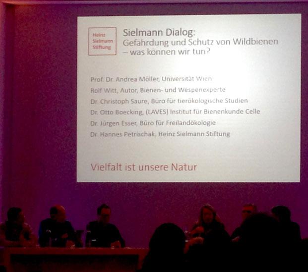 Der 'Sielmann Dialog' als Austausch zwischen Podium und Publikum als Abschluss des halbtägigen Symposiums