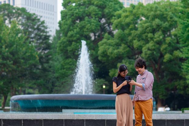 東京 千代田区 日比谷公園 出張撮影 カップル撮影 女性カメラマン