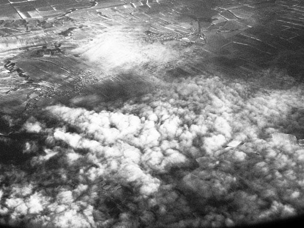 Wolkenformationen, Flug Wien Berlin, 16.01.17