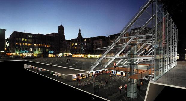 Музейному центру под рыночной площадью так и не дано стать реальностью (credits: Neugebauer+Rösch)