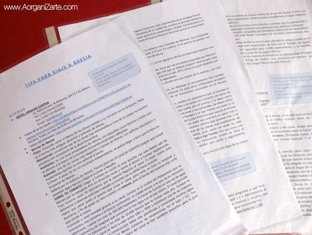 Prepara un resumen conl as actividades que puedes realizar en el viaje - www.AorganiZarte.com