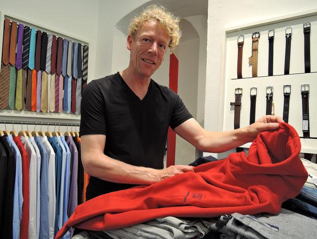 """Blick ins """"Exx"""": Sven Anders setzt gemeinsam mit seinem Bruder Peer auf selbstgemachte, nachhaltige Mode """"Made in Sachsen"""". Foto: C. Schumann, 2016"""