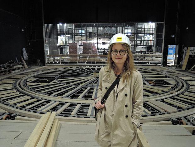 Dresdens Kulturbürgermeisterin Annekatrin Klepsch im neuen Kraftwerk Mitte. Foto: C. Schumann, 2016