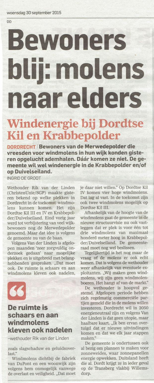 Artikel verschenen in AD De Dordtenaar