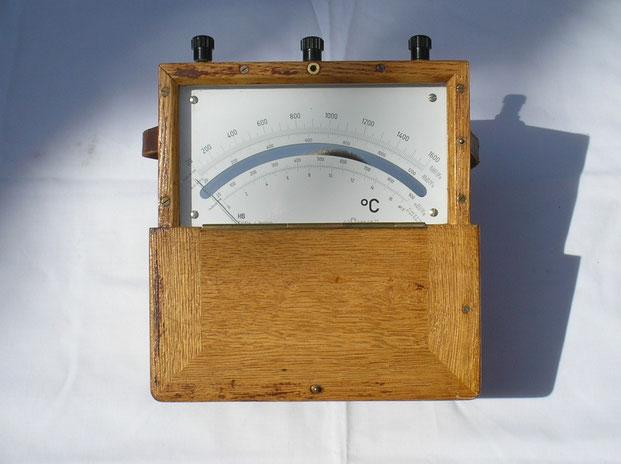 Hartmann & Braun  Millivoltmeter Skala geeicht in C° für Thermoelemente