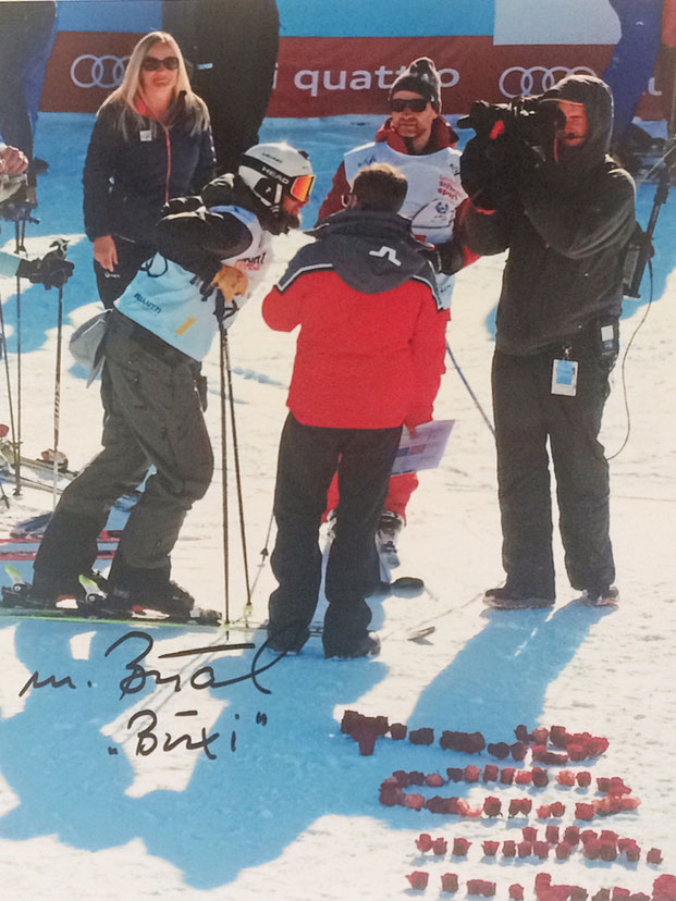 Marco 'Büxi' Büchel Liechtenstein, retired, won 4 World Cup Races, 2nd World Championship 1999 Giant Slalom, Picture taken at Charity Race World Championship St. Moritz 2017, Autograph by Mail