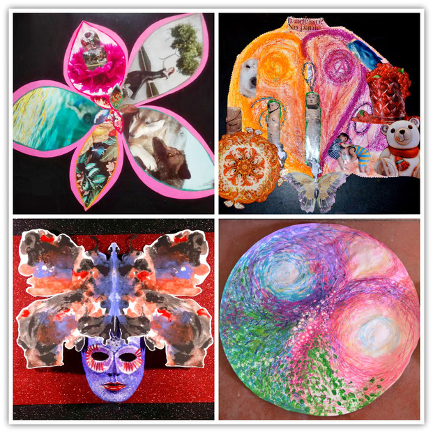 Examples of participants work in the Sparks of Wonder Program