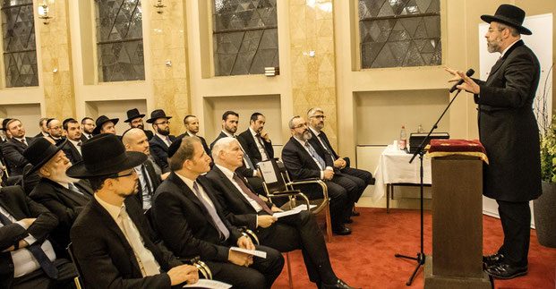 Rabbinerseminar zu Berlin, Oberrabbiner David Lau, Dr. Josef Schuster, Rabbiner Joshua Spinner