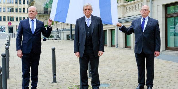 Uwe Becker, Volker Bouffier, Dr. Jacob Gutmark, Hessen, Antisemitismusbeauftragter, Ministerpräsident, Landesverband der Jüdischen Gemeinden in Hessen