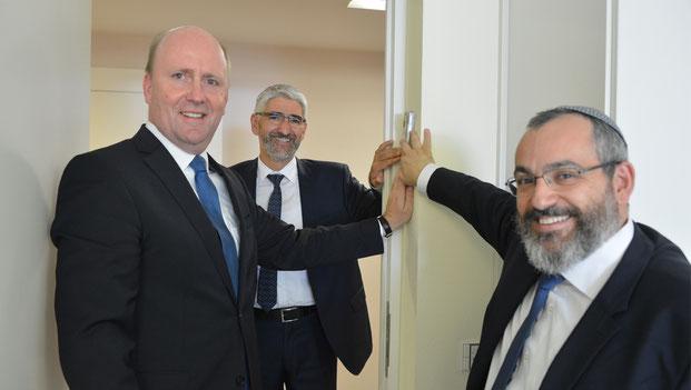Meet a Rabbi, Uwe Becker, Rabbiner Julien Soussan, Rabbiner Avichai Apel