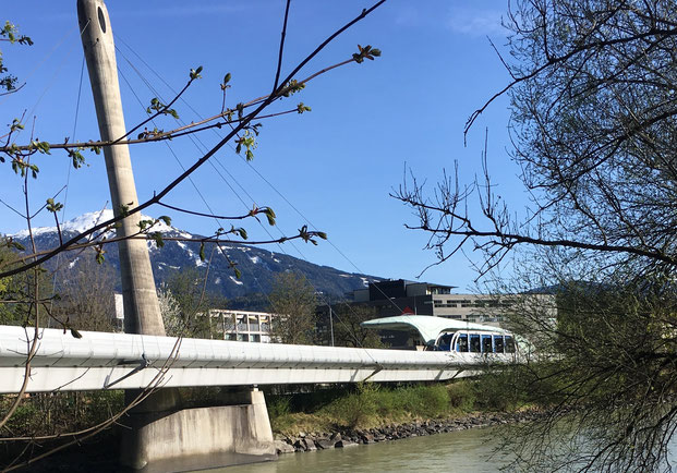 Funicular in Innsbruck, designed by Zaha Hadid