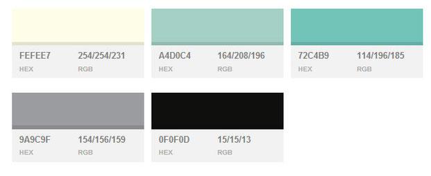 Цветовые схемы построения сайтов
