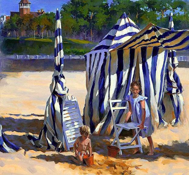 """картины природы""""Полдень на пляже"""""""